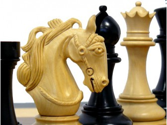 pi ce de jeu d 39 checs eb ne cavalier etoil roi 110mm. Black Bedroom Furniture Sets. Home Design Ideas